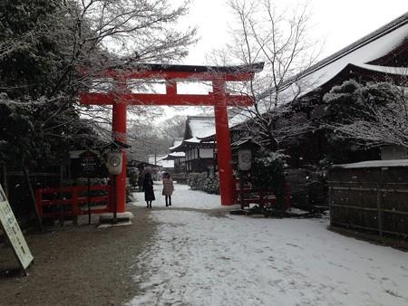 雪景色の下鴨神社