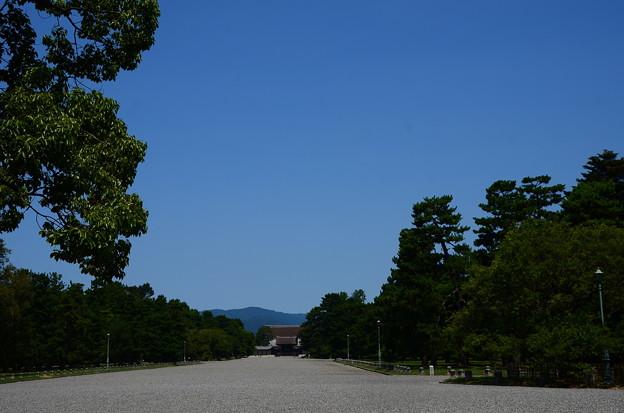 夏空の京都御所