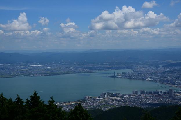夏空の琵琶湖