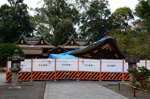 台風で倒壊した拝殿