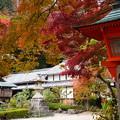写真: 釈迦堂脇の紅葉