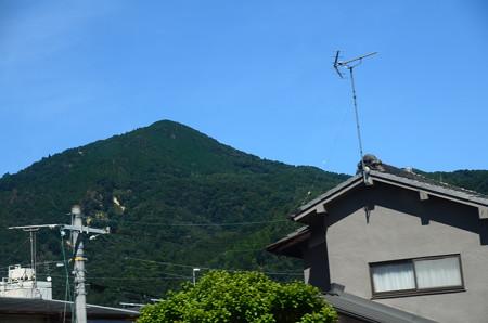 叡電から見た比叡山