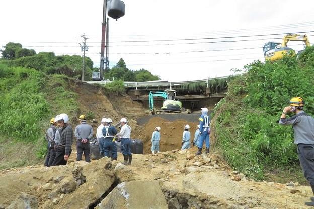 写真: 台風24号土砂崩れ現場_2299