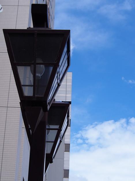 神田川沿いの街灯