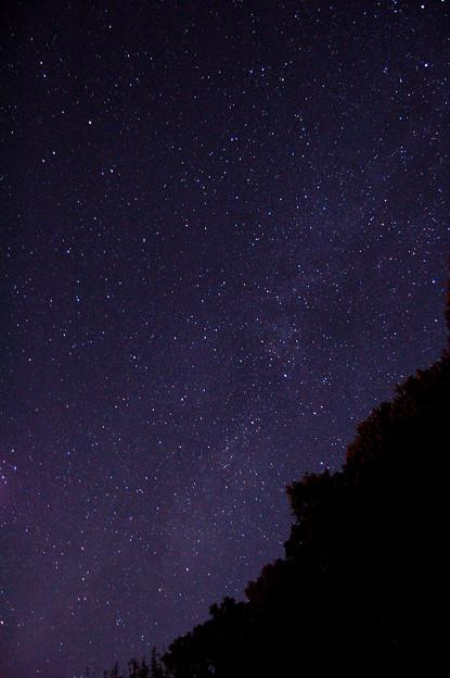 晩秋の天の川と白鳥座