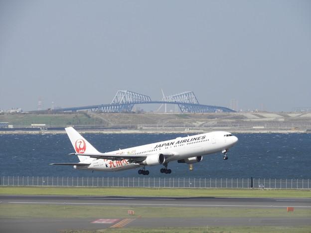 写真: 羽田空港で