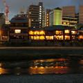 写真: 鴨川の鏡面夜景