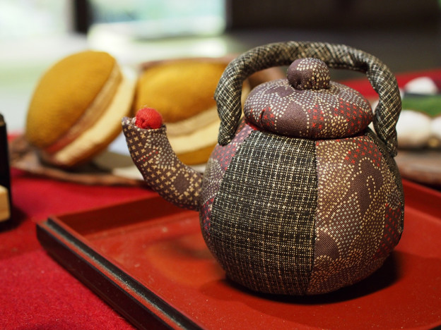 和菓子を堪能した後は、掛川の深蒸し茶をど~ぞ♪
