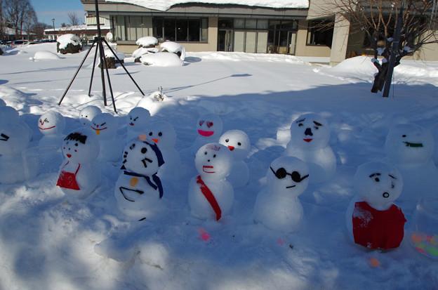 東川町氷まつりにて 雪だるま