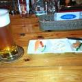 写真: ビールとお通し