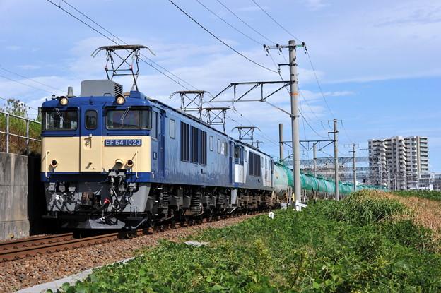 EF64-1023 8084レ 東海道本線 枇杷島ー清州