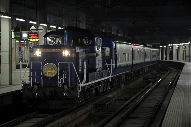 DD51-1100 寝台急行はまなす 札幌駅