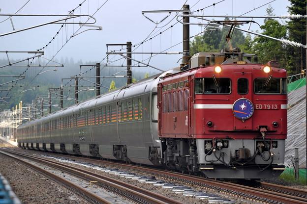 ED79-13 寝台特急「カシオペア」 津軽海峡線 木古内