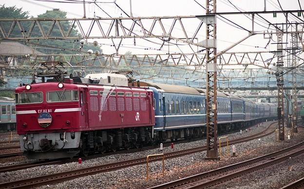 EF81-81 寝台特急「あけぼの」 東北本線 尾久~上野