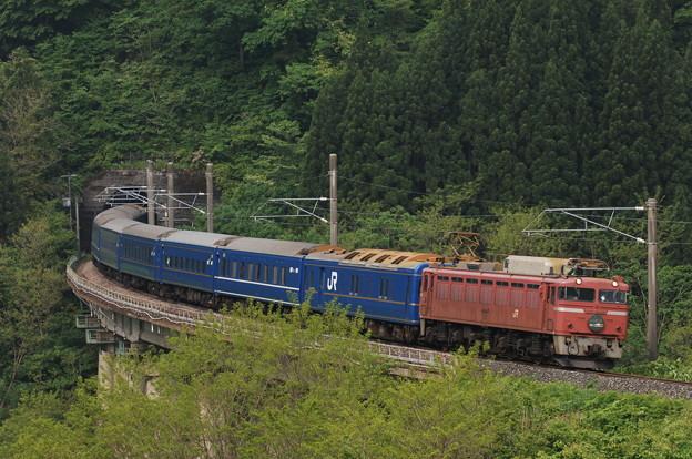 EF81-101 寝台特急 日本海 奥羽本線 白沢~陣場