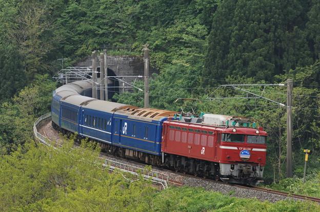 EF81-136 寝台特急 あけぼの 奥羽本線 白沢~陣場