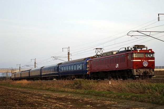 EF81-138 24系寝台 ニコニコ超会議号回送 羽越本線 鶴岡~羽前大山