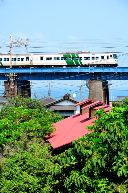 夏に向かう鉄橋