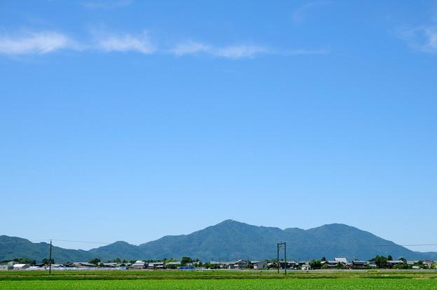 弥彦山を流れる雲