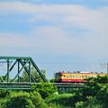 分水橋梁を渡る懐かしの新潟色