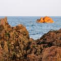 Photos: 沖から染まり始める