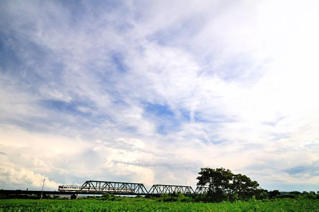 分水橋梁と115系