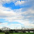 Photos: 荒川橋梁を渡る3000形電車