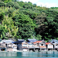 写真: 入り江に並ぶ舟屋