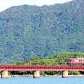 写真: 由良川橋梁を渡る丹鉄列車 15