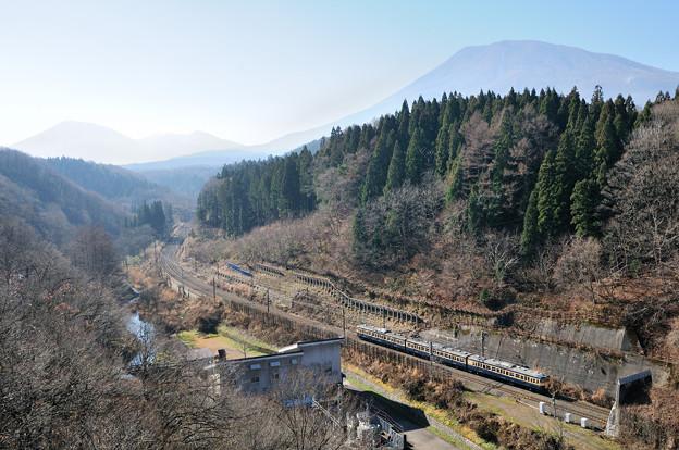 しなの鉄道 115系 信越大橋俯瞰
