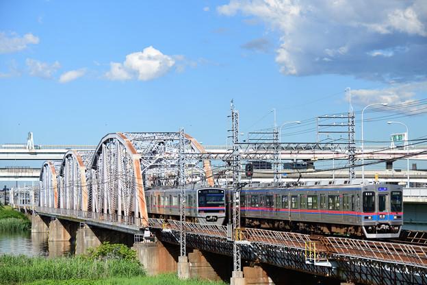 京成電車すれ違い