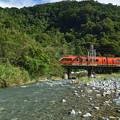 Photos: 渓流を眺めながら