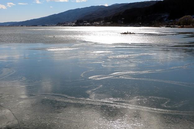 凍結の煌めく諏訪湖