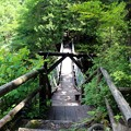 写真: 中八丁吊り橋