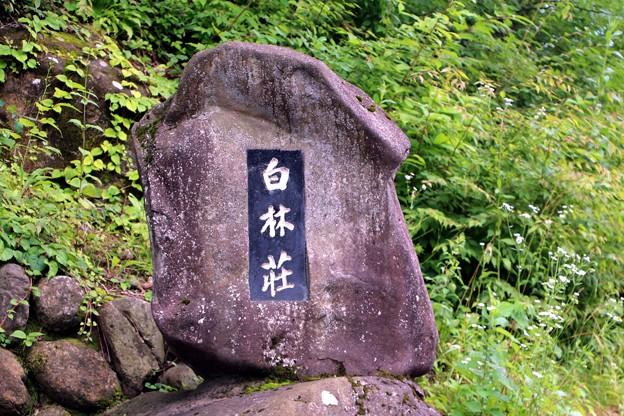 「白林荘」石碑