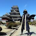 松本城と武将隊