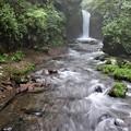 竜返しの滝と渓流
