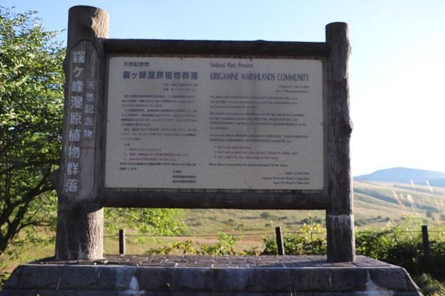 Photos: 霧ヶ峰湿原植物群落標板