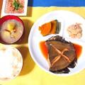 煮魚定食風