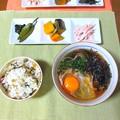 Photos: 月見そば定食風