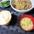 Photos: もやしのにんにく醤油炒め定食
