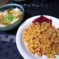 にんにく炒飯とスープ餃子