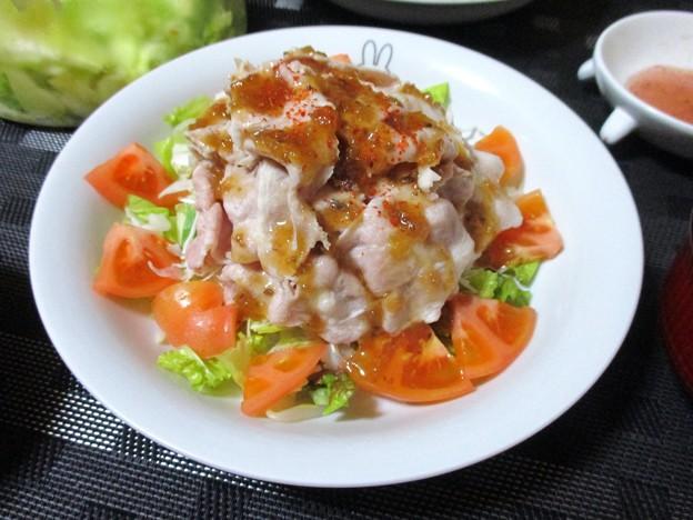 豚しゃぶサラダ・オニオンソース