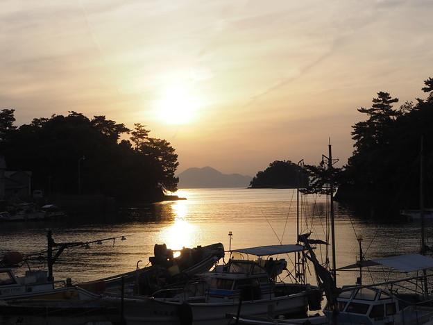 有明海の朝日