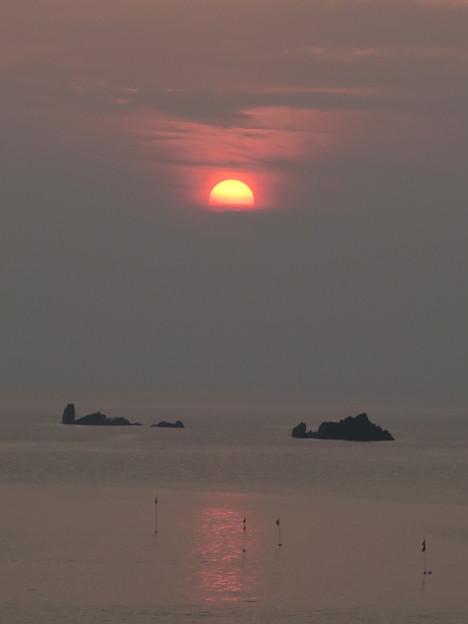 門前の夕陽7月20日