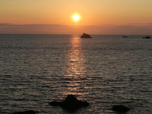 門前の夕陽8月13日