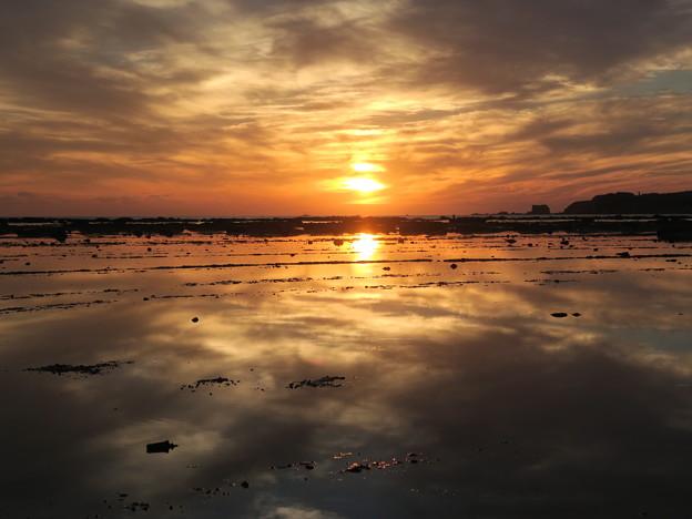 鵜ノ崎夕景10月4日 秋田のウユニ塩湖