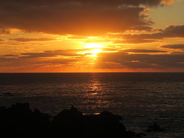 門前の夕陽12月2日