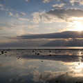 Photos: 鵜ノ崎夕景1月14日 秋田のウユニ塩湖 幻日