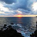 門前の夕陽8月24日